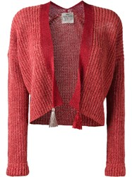 Forte Forte Tassel Detail Open Cardigan Red