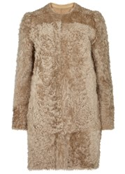 Karl Donoghue Alpine Camel Reversible Shearling Coat