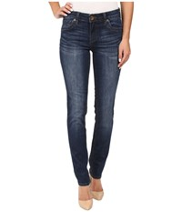 Kut From The Kloth Stevie Straight Leg Five Pocket Jeans In Admiration W Dark Stone Base Wash Admiration Dark Stone Base Wash Women's Jeans Blue