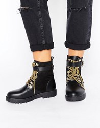 Truffle Collection Hiker Boot Black