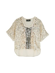 By Malene Birger Aniu All Over Sequin Top Gold Gold