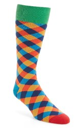 Paul Smith Men's Tile Socks Blue Orange