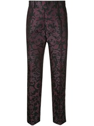 Dolce And Gabbana Tailored Jacquard Trousers Black
