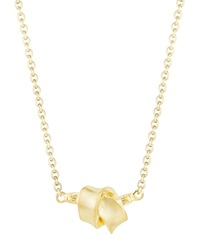 Carelle Mini Knot Pendant Necklace In 18K Yellow Gold 16