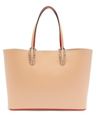 Christian Louboutin Cabata Grained Leather Tote Bag Nude