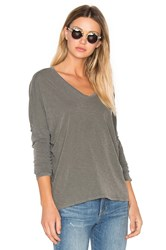 Stateside V Neck Long Sleeve Tee Sage