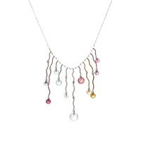 Sharon Khazzam Gemstone Wave Necklace
