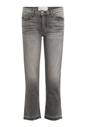 Current Elliott Cropped Straight Leg Jeans Grey