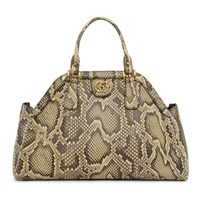 Gucci Beige Snake Small Top Handle Bag