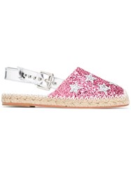 Chiara Ferragni High Shine Espadrilles Pink Purple