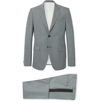 Givenchy Blue Slim Fit Puppytooth Wool Suit Blue