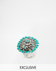 Designsix Stone Statement Ring Silver