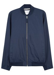 Norse Projects Ryan Blue Cotton Blend Bomber Jacket Navy