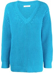 Chinti And Parker V Neck Jumper Blue
