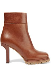 Marni Leather Ankle Boots Brown