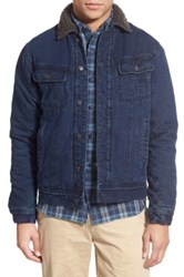 Faherty Lined Indigo Canvas Jacket Blue