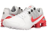 Nike Shox Avenue Leather White Metallic Silver Pure Platinum Max Orange Men's Running Shoes