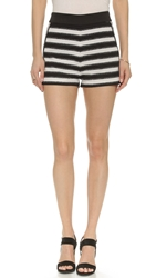 English Factory Striped Summer Shorts White Black