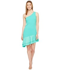Trina Turk Lunaria Dress Cabana Teal Women's Dress Blue