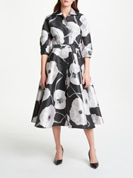 Bruce By Bruce Oldfield Floral Jacquard Dress Charcoal