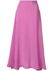 Sies Marjan Asymmetric Maxi Skirt Pink And Purple