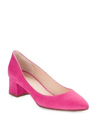 Aquatalia By Marvin K Pheobe Diamond Suede Pumps Pink