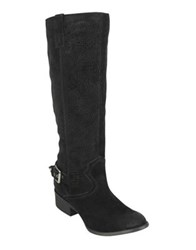 Naughty Monkey Ziba Suede Tall Boots Taupe