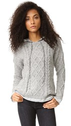 Generation Love Phoebe Cable Knit Hoodie Heather Grey