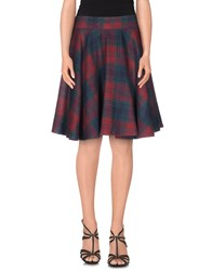 Le Ragazze Di St. Barth Skirts Knee Length Skirts Women Maroon