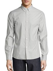 A.P.C. Embroidered Cotton Shirt Grey