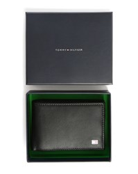 Tommy Hilfiger Black Eton Mini Flap Leather Wallet