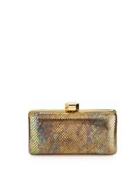 Milly El Dorado Minaudiere Evening Clutch Bag Gold