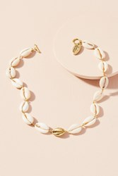 Anthropologie Cowrie Shell Choker Necklace Gold