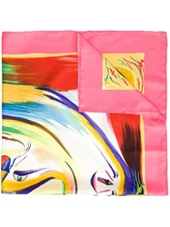 Hermes Vintage 'Smiles In Third Millenary' Scarf Pink And Purple