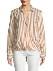 Beach Lunch Lounge Surplus Striped Top Orange White