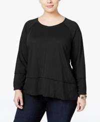 Styleandco. Style Co. Plus Size High Low Top Only At Macy's Deep Black