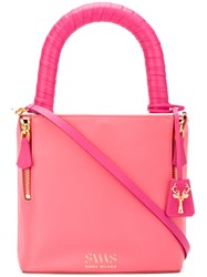 Savas Lucchetto Tote Women Calf Leather One Size Pink Purple
