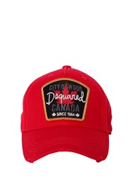 Dsquared City Of Wood Canvas Baseball Cap