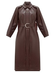 Dodo Bar Or Berry Belted Leather Dress Dark Red