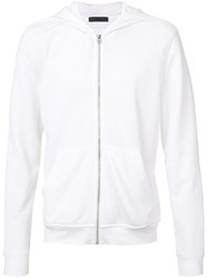 Atm Anthony Thomas Melillo French Terry Zip Hoodie White