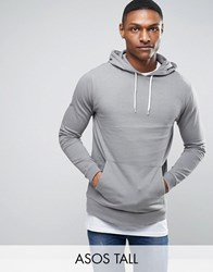 Asos Tall Hoodie In Grey Spoon