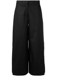 L'autre Chose Flared Tailored Trousers Black
