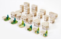 Areaware Blockitecture Garden City Set Of 2 Light Brown