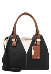 Dune London Dorah Handbag Black White