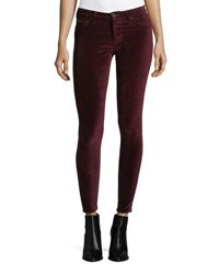 Hudson Nico Mid Rise Skinny Leg Ankle Pants Red
