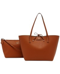 Guess Bobbi Inside Out Tote Cognac Gold