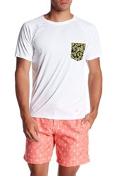 Trunks Print Pocket Swim Tee White