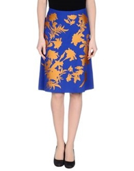 Jonathan Saunders Knee Length Skirts Blue