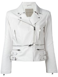 Ermanno Scervino Zipped Details Strappy Jacket Women Silk Polyamide Acetate 40 White