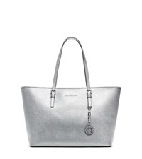 Michael Michael Kors Jet Set Travel Medium Metallic Saffiano Leather Tote